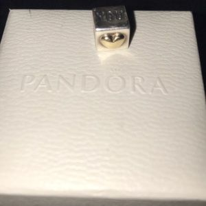 Pandora Jewelry - I love you with gold heart authentic pandora charm